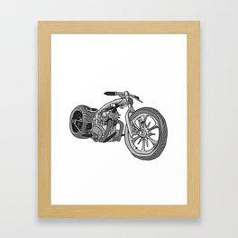 Juan's Chopper Framed Art Print