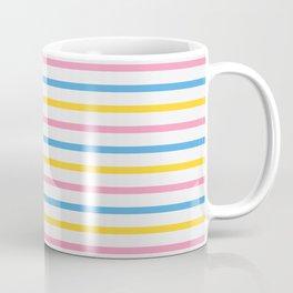 Color Lines of Train Pink/ Blue/ Yellow Coffee Mug