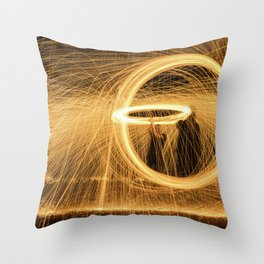 Circle of Fire Throw Pillow