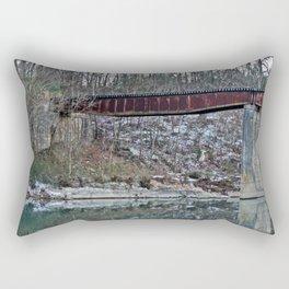 Winter Caddo River Tressle Rectangular Pillow