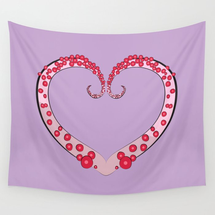Tentacle Valentine Wall Tapestry