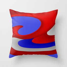 sweeping lines for your home -5- 4th of July Throw Pillow