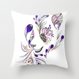Hidden panda Throw Pillow