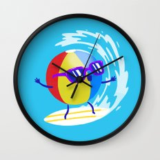 Lets Surf The Ocean Together! Wall Clock
