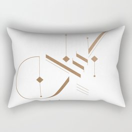 Modern Arabic Calligraphy - Lebanon Rectangular Pillow