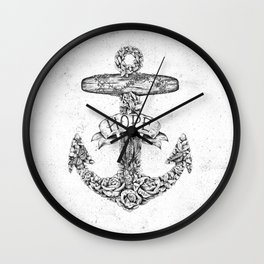 Hope Anchors Wall Clock