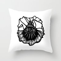 third eye Throw Pillows featuring Third Eye by Cecile Psicheer