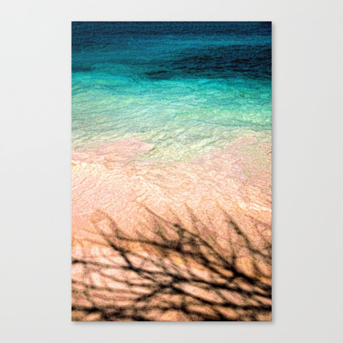 SEA AND TREE Canvas Print