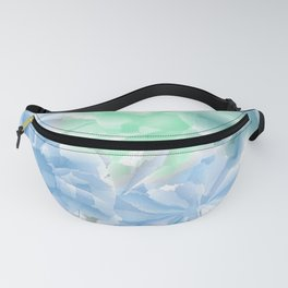 Big Flowers With Blue and Green Fanny Pack