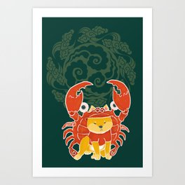 Crab Funny Dog Costume - Sea Collection Art Print