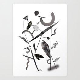 Abstract Botanica - 2 Art Print