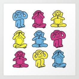 Monkey, monkey, monkey Art Print
