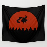 witch Wall Tapestries featuring Witch by Cs025