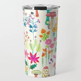 The Odd Floral Garden I Travel Mug
