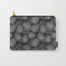 Tropical Print Grey & Black Carry-All Pouch