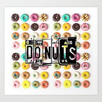 donuts Art Prints featuring DONUTS by Vertigo