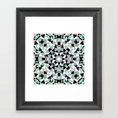 Abstract Kaleidoscope Mint Framed Art Print