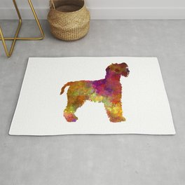 Welsh Terrier in watercolor Rug