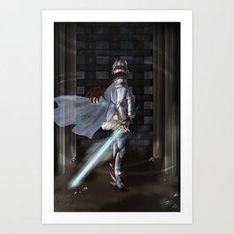 The Brave Knight Art Print