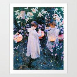 John Singer Sargent - Carnation, Lily, Lily, Rose Art Print