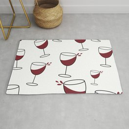 Red wine glasses // celebrate with wine Rug