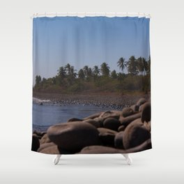 Stones on the beach II Shower Curtain
