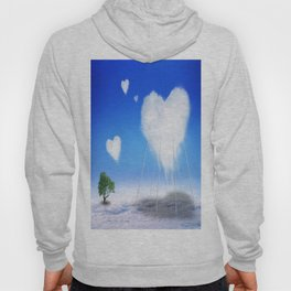 When I feel love, I' d be above the clouds Hoody