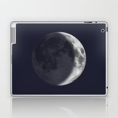 Waxing Crescent Moon on Navy Laptop & iPad Skin