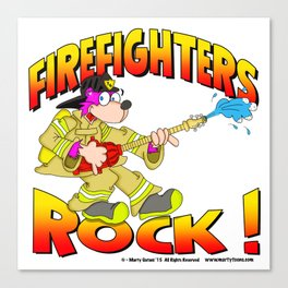 Firefighters Rock Merchandise Canvas Print