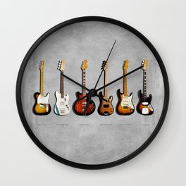The Guitar Collection Wall Clock