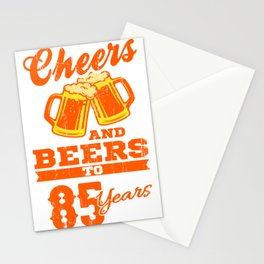 Cheers And Beers To 85th Birthday Gift Idea Stationery Cards