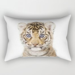 Baby Tiger Art Print by Zouzounio Art Rectangular Pillow