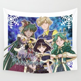 Merry Xmas Outer Senshi Wall Tapestry