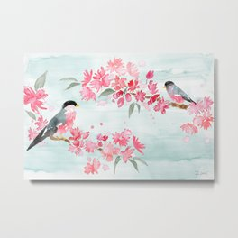 Birds and Blooms Metal Print