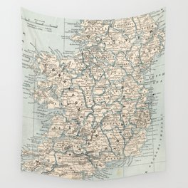 Vintage Map of Ireland (1893) Wall Tapestry