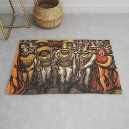 From the Dictatorship of Porfirio Díaz to the Revolution, The People in Arms by David Siqueiros Rug