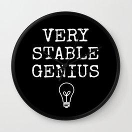 Black Stable Genius Wall Clock
