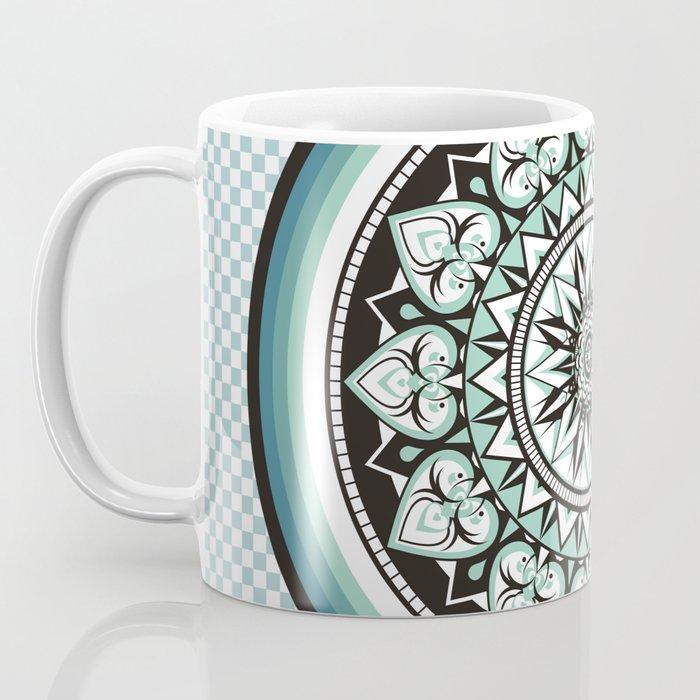 Mandala Design Sea Blue Aqua Theme Coffee Mug