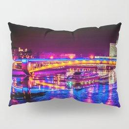 Fantastic, Breathtaking River Cruise At Winter Night Pillow Sham