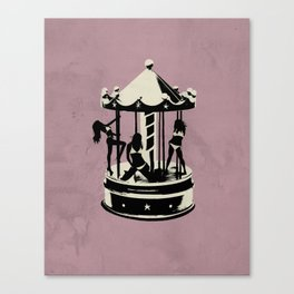 Pink Carousel Canvas Print