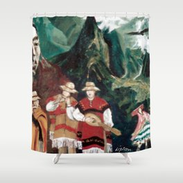The ANDES             by Kay Lipton Shower Curtain