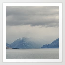 Mt Cook Likes To Hide 2 Art Print