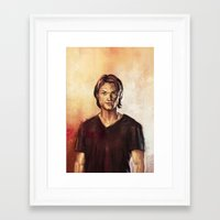 sam winchester Framed Art Prints featuring Sam Winchester by Lena