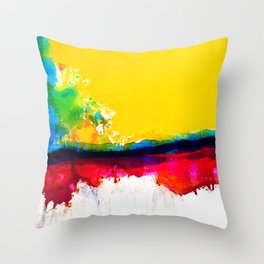 Color Song C5 by Kathy Morton Stanion Throw Pillow