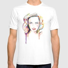 Color 04 Mens Fitted Tee White MEDIUM