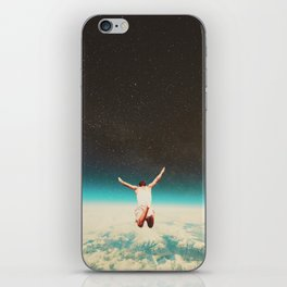 Falling with a hidden smile iPhone Skin