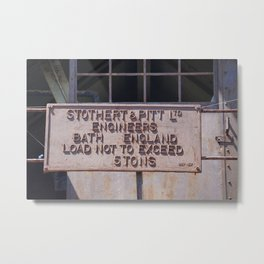 STOTHERT & PITT LTD Metal Print