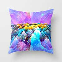 data Throw Pillows featuring Data Sea by NatalieCatLee