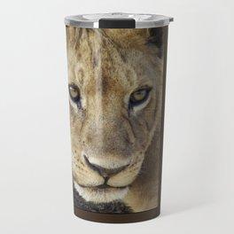 Lion_BrownBoarder Travel Mug