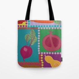 Fun Fruits and Veggies Tote Bag